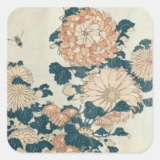 Chrysanthemums Square Sticker