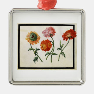 Chrysanthemums (w/c on paper) christmas ornament