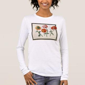 Chrysanthemums (w/c on paper) long sleeve T-Shirt