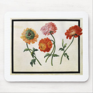 Chrysanthemums (w/c on paper) mouse mat
