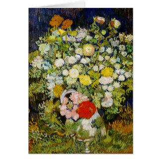 Chrysanthemums & Wild Flowers Van Gogh Fine Art Note Card