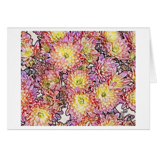 Chrysanthemums Within the Lines Card Notecard