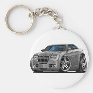 Chrysler 300 Grey Car Basic Round Button Key Ring