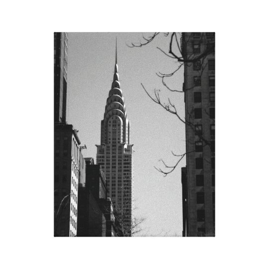 Chrysler Building-Black and White Canvas Print