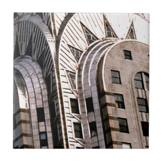 Chrysler Building: Close Up View Small Square Tile