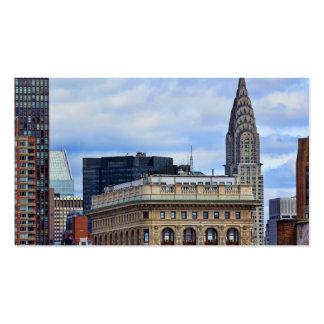 Chrysler Building Flatiron Blue Sky Clouds Business Card