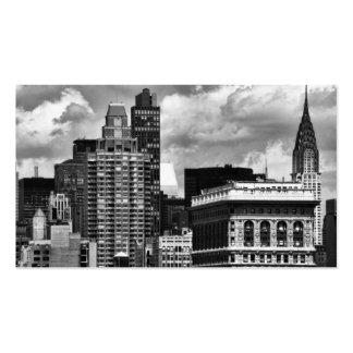 Chrysler Building, Flatiron Building, Sky House BW Business Card Templates