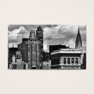 Chrysler Building, Flatiron Building, Sky House BW Business Card