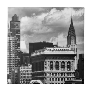 Chrysler Building, Flatiron Building, Sky House BW Tile