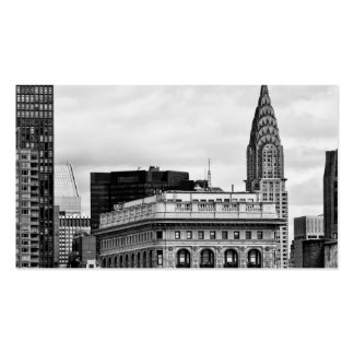 Chrysler Building, Flatiron, Clouds B&W Business Card Template