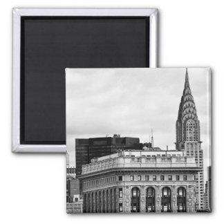 Chrysler Building, Flatiron, Clouds B&W Magnet