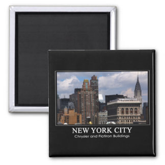Chrysler Building Flatiron with clouds 2C Magnet