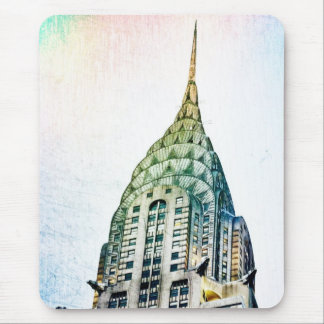 Chrysler Building - Frozen - New York City Mouse Pad