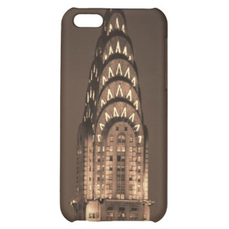 Chrysler Building in Sepia with Gold Glow iPhone 5C Cases