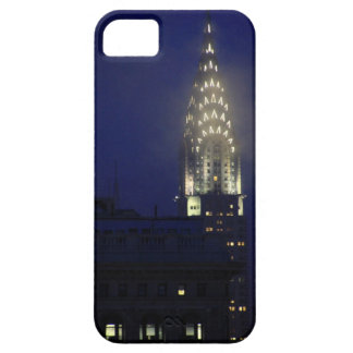 Chrysler Building Lit up at Dusk in the Mist iPhone 5 Cases