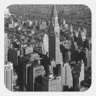 Chrysler Building New York Manhattan Square Sticker