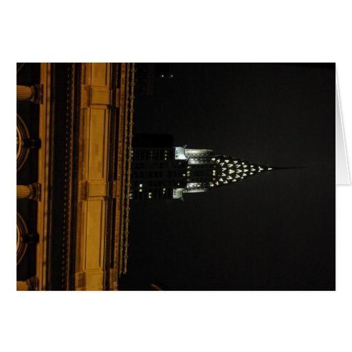 Chrysler Building Over Grand Central Greeting Cards