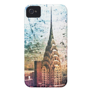 Chrysler Building - Paint Splattered - New York iPhone 4 Case
