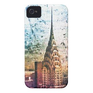 Chrysler Building - Paint Splattered - New York iPhone 4 Case-Mate Case