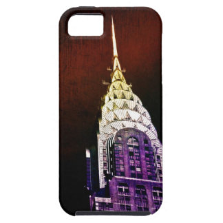 Chrysler Building - Purple and Red - NYC iPhone 5 Cases