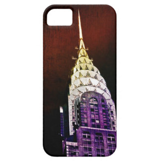Chrysler Building - Purple and Red - NYC iPhone 5 Cover