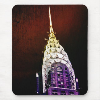 Chrysler Building - Purple and Red - NYC Mousepads