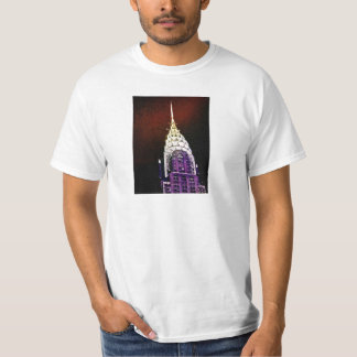 Chrysler Building - Purple and Red - NYC T-Shirt