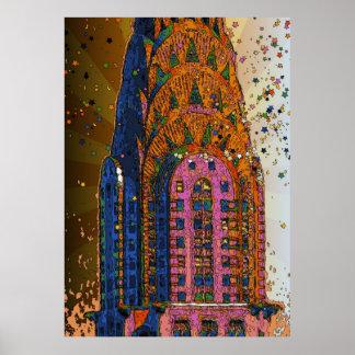 Chrysler Building Top Closeup 1 Posters