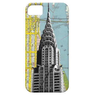 Chrysler Building with Map background iPhone 5 Covers