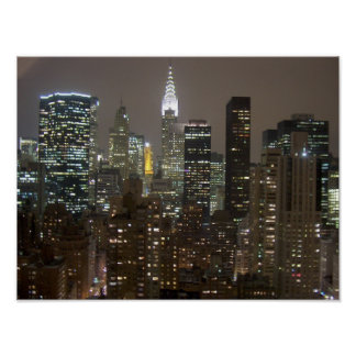 Chrysler Buuilding NYC Night Poster