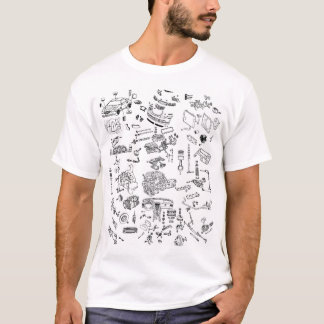 Chrysler Crossfire Exploded Parts Diagram T-Shirt