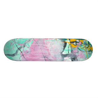 Chrystarium - pink abstract expressionism skate deck