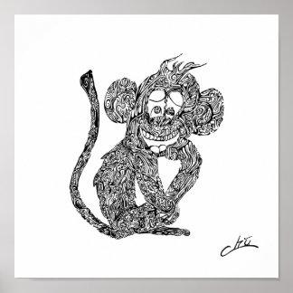 Chu funky Monkey Poster