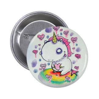Chubbles the Unicorn 6 Cm Round Badge