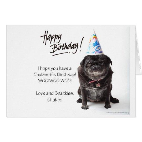 Chubbs The Wampug Birthday Card
