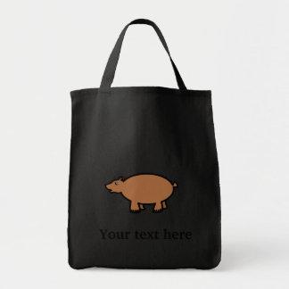 Chubby brown bear bags