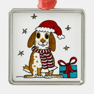 Chubby bunny Christmas design Christmas Ornament
