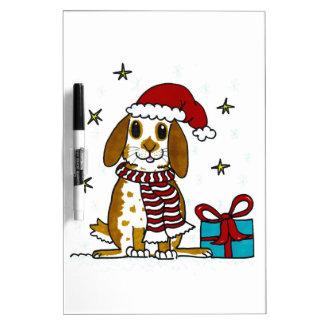 Chubby bunny Christmas design Dry Erase Board