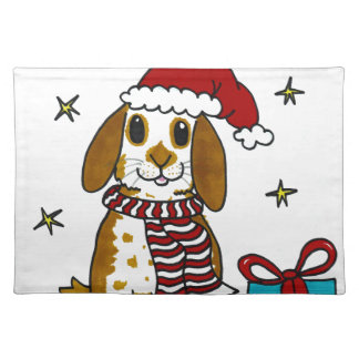 Chubby bunny Christmas design Placemat
