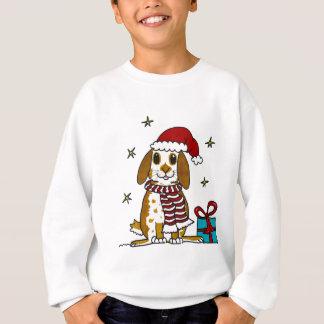 Chubby bunny Christmas design Sweatshirt