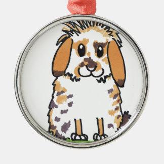 Chubby bunny 'Holly' Design Christmas Ornament