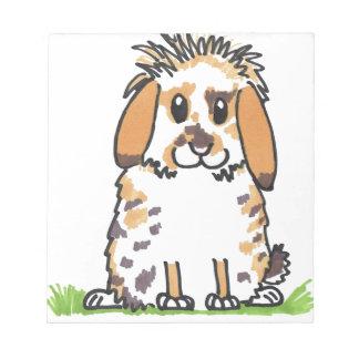 Chubby bunny 'Holly' Design Notepad