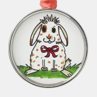 Chubby bunny 'Mini' Design Silver-Colored Round Decoration