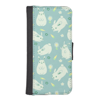 Chubby Bunny Pattern iPhone SE/5/5s Wallet Case