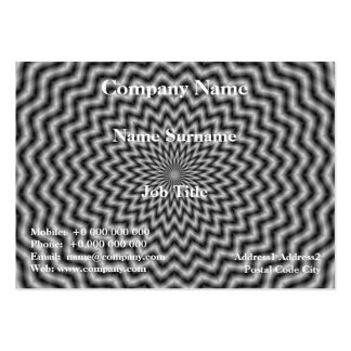 Chubby Business Card  Circular Wave in Monochrome