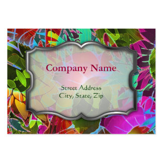 Chubby Business Card Floral Abstract Artwork