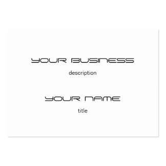 Chubby Business Card Template Premium  Heavy White