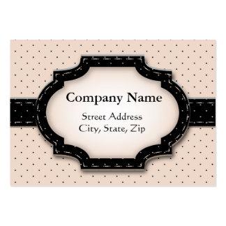 Chubby card Polka Dot and Flowers Business Card