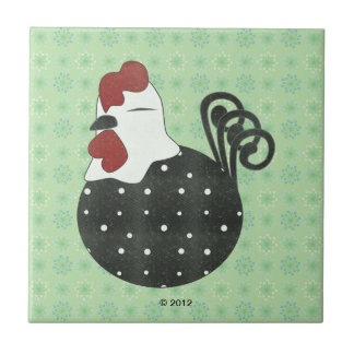 Chubby Chicken Small Square Tile