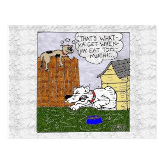 chubby dog postcard